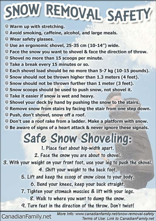 Snow Removal Safety (infographic)