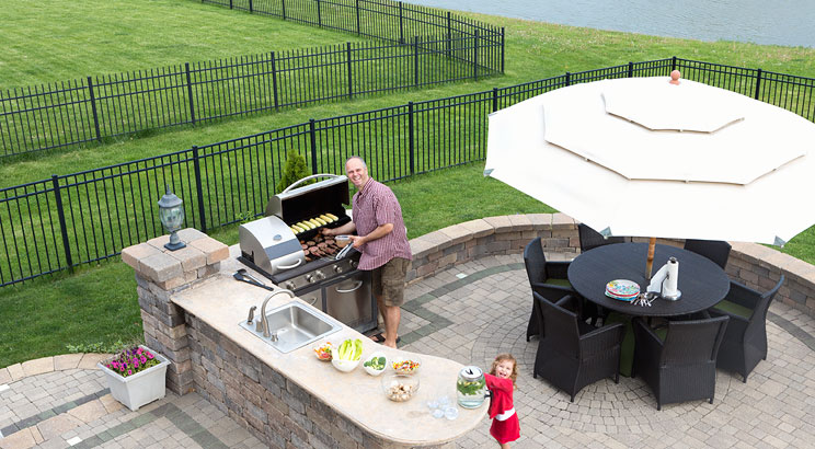 Designing your outdoor kitchen - location