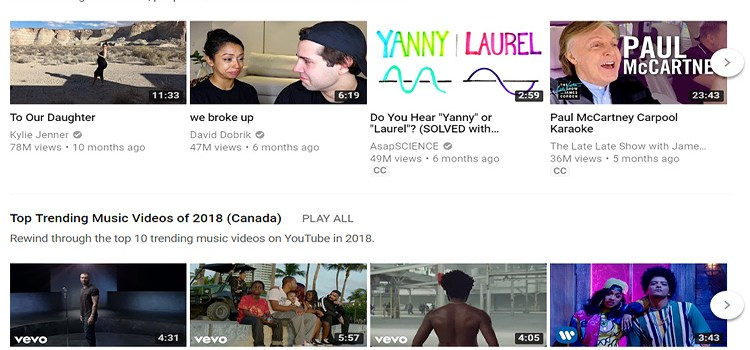 YouTube Canada Reveals the Top Videos of 2018