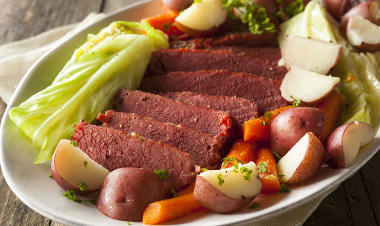 Irish Canadian Food - Corned Beef & Cabbage Recipe