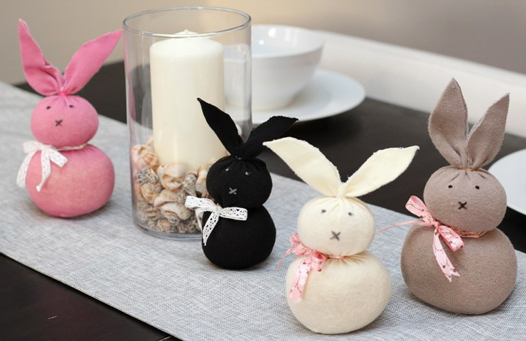 Easy Easter Crafts for Adults - Sock Bunnies