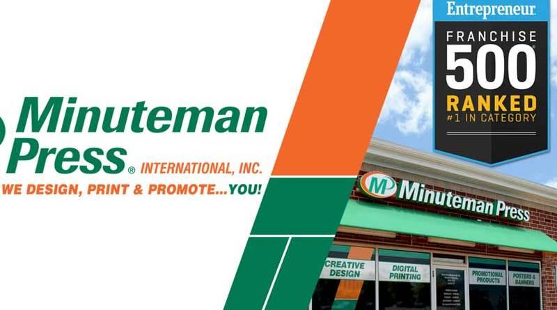 Minuteman Press International Awarded Number 1 Marketing and Printing Franchise