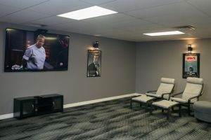 CHRC alcohol drug rehab centre tv room
