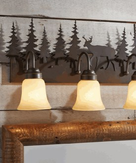 Rustic Vanity Light Fixtures   Cabin Bathroom Rustic Vanity Light Fixtures