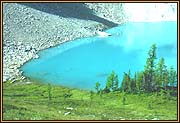 A study of Zigadenus Lake (one of Skoki Lakes)