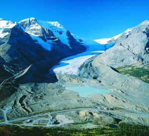 The Columbia Icefield is one one of the most unique sights in the   Canadian Rockies.