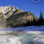 The Canadian Rockies has no shortage of ice and glaciers.