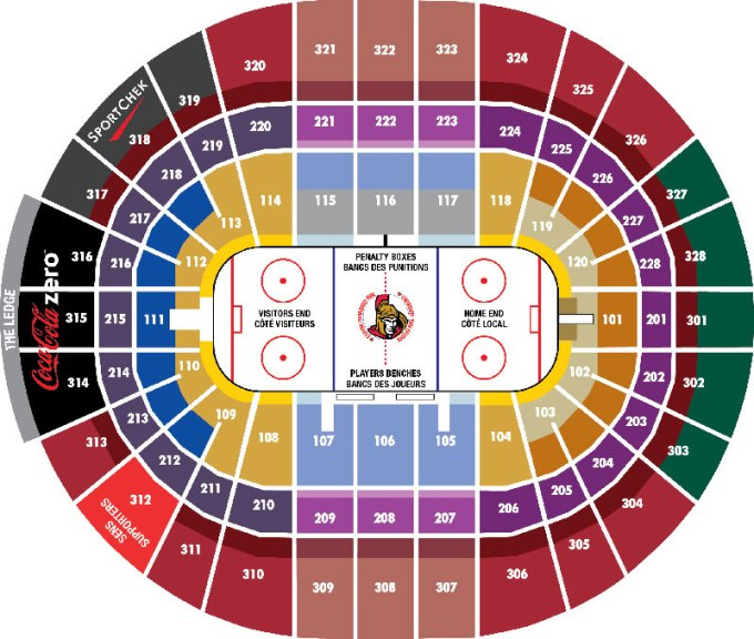 Canadian Tire Centre Concert Seating Map Www