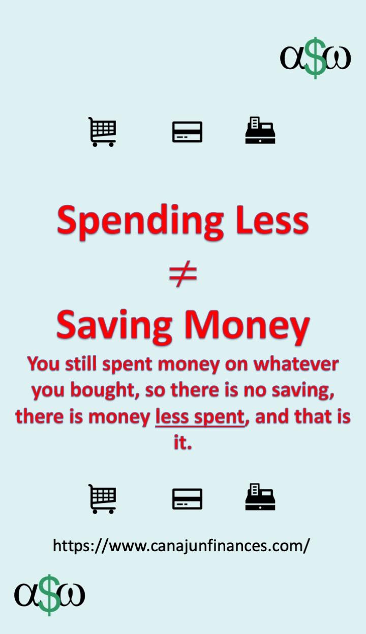 Spending less isn't saving