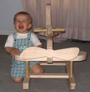 My Son Many Years Ago (nice rocking plane his sister made)