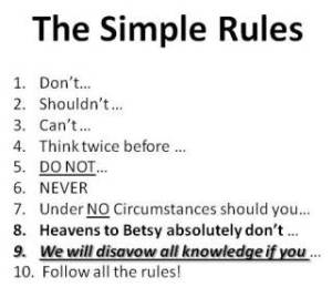Simple Rules to Follow