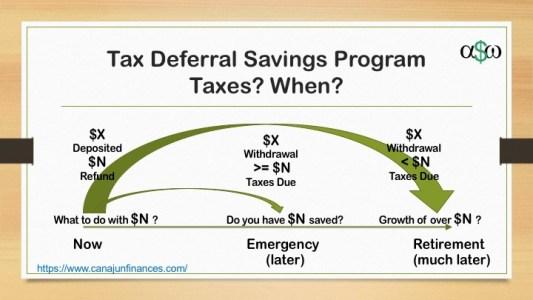 Tax Deferral savings plan