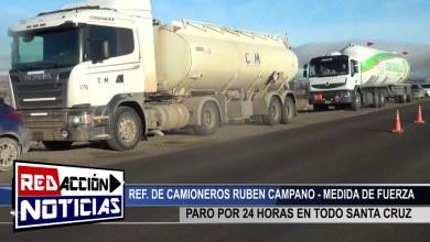 Photo of Redacción Noticias    PARO DE CAMIONEROS POR 24 HORAS – LAS HERAS SANTA CRUZ