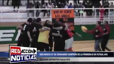 Photo of Redacción Noticias |  FUTSAL AFA: DON BOSCO 57 CAMPEON DE LA 1°B APERTURA 2018 – LAS HERAS SANTA CRUZ