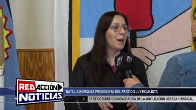 Photo of Redacción Noticias |  NATALIA BORQUEZ PRESIDENTE DEL PJ – CONMEMORACIÓN 17 DE OCTUBRE