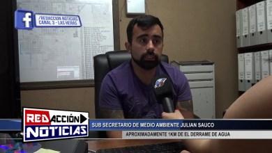 Photo of Redacción Noticias    DERRAME DE AGUA JULIAN SAUCO – LAS HERAS SANTA CRUZ