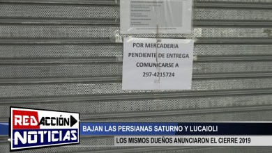 Photo of Redacción Noticias |  INFORME CIERRE DE LUCAIOLI Y SATURNO – LAS HERAS SANTA CRUZ