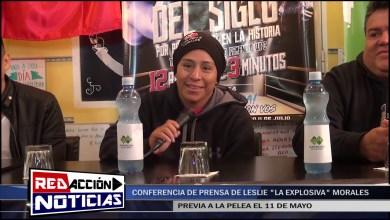 Photo of Redacción Noticias |  CONFERENCIA DE PRENSA DE LESLIE «LA EXPLOSIVA» MORALES – LAS HERAS SANTA CRUZ
