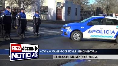 Photo of Redacción Noticias |  ACTO Y ENTREGA DE INDUMENTARIA Y MOVILES – LAS HERAS SANTA CRUZ