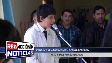 Photo of Redacción Noticias    RESUMEN DE ACTO 9 DE JULIO – PROF. BARREIRO ESC  7 – LAS HERAS SANTA CRUZ