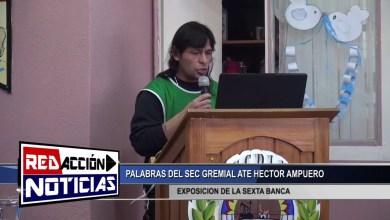 Photo of Redacción Noticias |  ATE – PRESENTACION DE LA SEXTA BANCA – LAS HERAS SANTA CRUZ