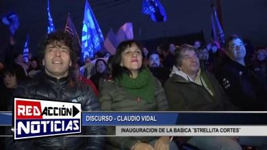 Photo of Redacción Noticias    DISCURSO CLAUDIO VIDAL – INAUGURACION – LAS HERAS SANTA CRUZ