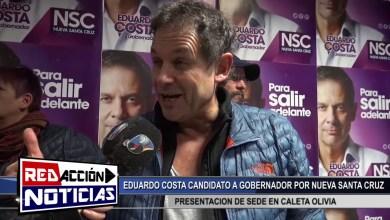 Photo of Redacción Noticias    EDUARDO COSTA CANDIDATO A GOBERNADOR – PRESENTACION DE LA NUEVA SEDE