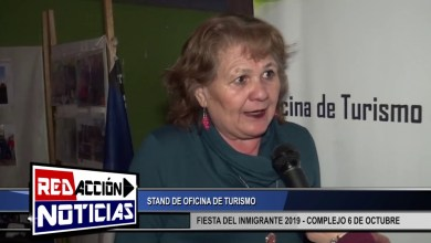 Photo of Redacción Noticias |  FIESTA DEL INMIGRANTE 2019 – STAND DE OFICINA DE TURISMO – LAS HERAS SANTA CRUZ
