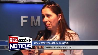 Photo of Redacción Noticias |  NATALIA BORQUEZ – CANDIDATA A CONCEJAL SUB LEMA ¨LA JUVENTUD ALZA LA VOZ¨ – LAS HERAS SANTA CRUZ