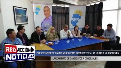 Photo of Redacción Noticias |  RAFAEL GUENCHENEN Y SU PRESENTACION DE CANDIDATURA – LAS HERAS SANTA CRUZ