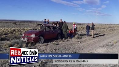 Photo of Redacción Noticias |  VUELCO A POCOS KILOMETROS DE LAS HERAS SANTA CRUZ