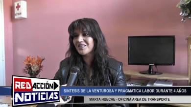 Photo of Redacción Noticias |  MARTA HUECHE – AREA DE TRANSPORTE TRABAJO REALIZADO DURANTE 4 AÑOS (PARTE 2) – LAS HERAS SANTA CRUZ