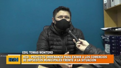 Photo of Redacción Noticias |  Concejal Montero – Proyecto para eximir a los comercios de impuestos municipales en esta pandemia