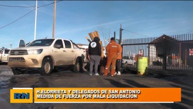 Photo of Redacción Noticias |  Paro en San Antonio por mala liquidación de haberes – Diputado Elorrieta y Delegados de la empresa