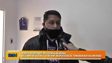 Photo of Redacción Noticias |  Sergio Acosta – Uocra: «Si no hay repuestas se tomaran nuevas medidas»