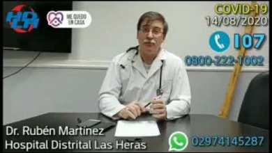 Photo of Redacción Noticias |  Dr. Martinez – Parte epidemiologico desde Las Heras Santa Cruz