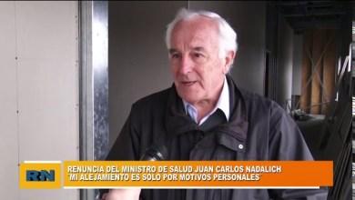 Photo of Redacción Noticias |  RENUNCIO EL MINISTRO DE SALUD JUAN CARLOS NADALICH