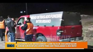 Photo of Redacción Noticias    Desde Rio Mayo a Las Heras ebrios y sin documentación – Venían a buscar un cuerpo para trasladarlo.
