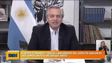 Photo of Redacción Noticias |  Alberto Fernandez: tras el lanzamiento del satélite Saocom B1 – «Hoy somos un poco mejor que antes»