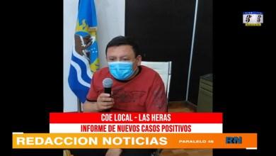 Photo of Redacción Noticias |  COE Las Heras – se suman mas casos (Miércoles)