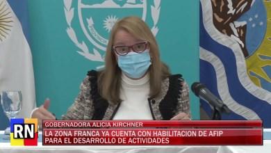Photo of Redacción Noticias    ALICIA KIRCHNER – LA ZONA FRANCA DIO UN PASITO MAS