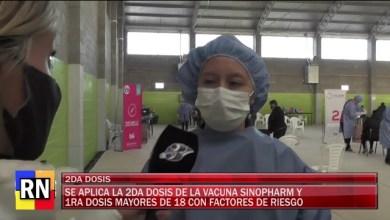 Photo of Redacción Noticias |  Se aplico la 2° dosis de la vacuna Sinophram y 1° dosis para mayores de 18 con factores de riesgo