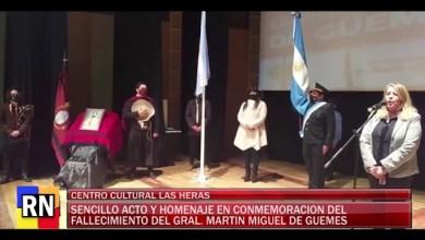 Photo of Redacción Noticias |  Sencillo Acto y homenaje en conmemoracion del fallecimiento del gral. Martin Guemes