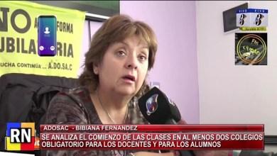 Photo of Redacción Noticias    ADOSAC – Clases presenciales – Bibiana Fernandez