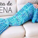 Manta de cola de sirena a Crochet