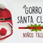 DIY Gorro Papá Noel para niños