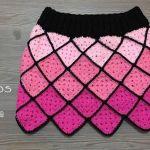 DIY Falda a crochet con granny