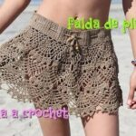 DIY Falda caracol tejida de ganchillo crochet