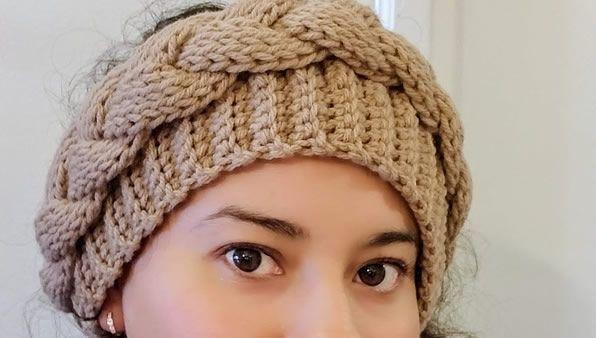 Diadema con Trenza a Crochet