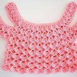 Blusa niña tipo top a crochet